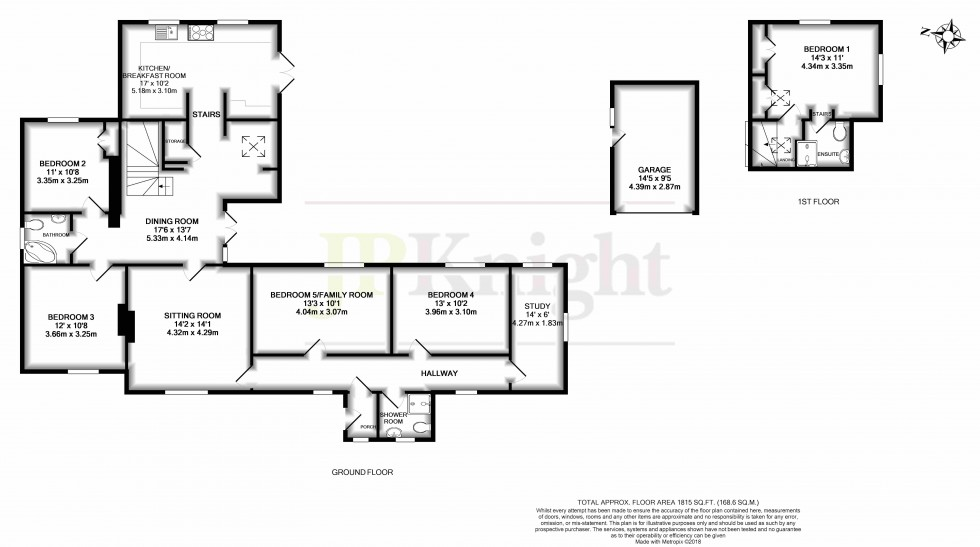 Floorplan for Dunsomer Hill, North Moreton