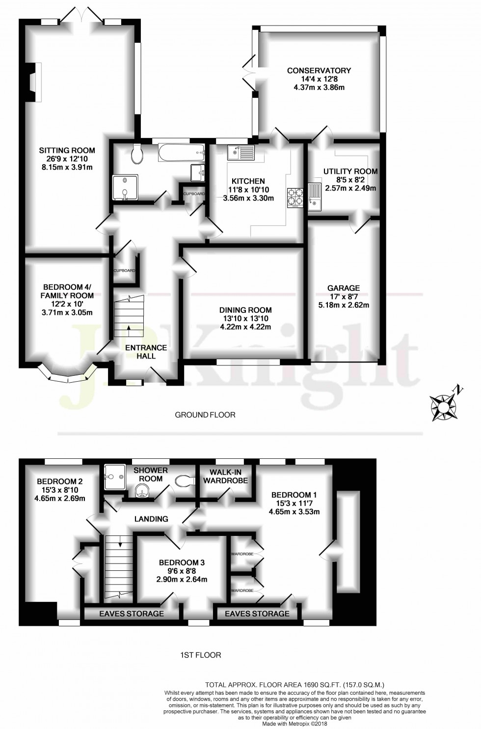 Floorplan for Behoes Lane, Woodcote