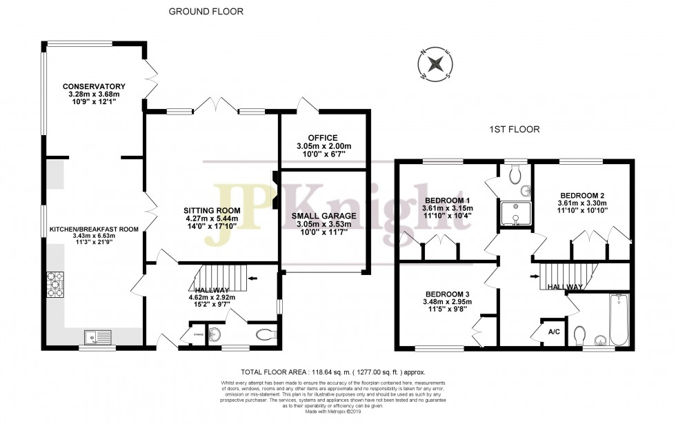 Floorplan for Millar Close, Benson