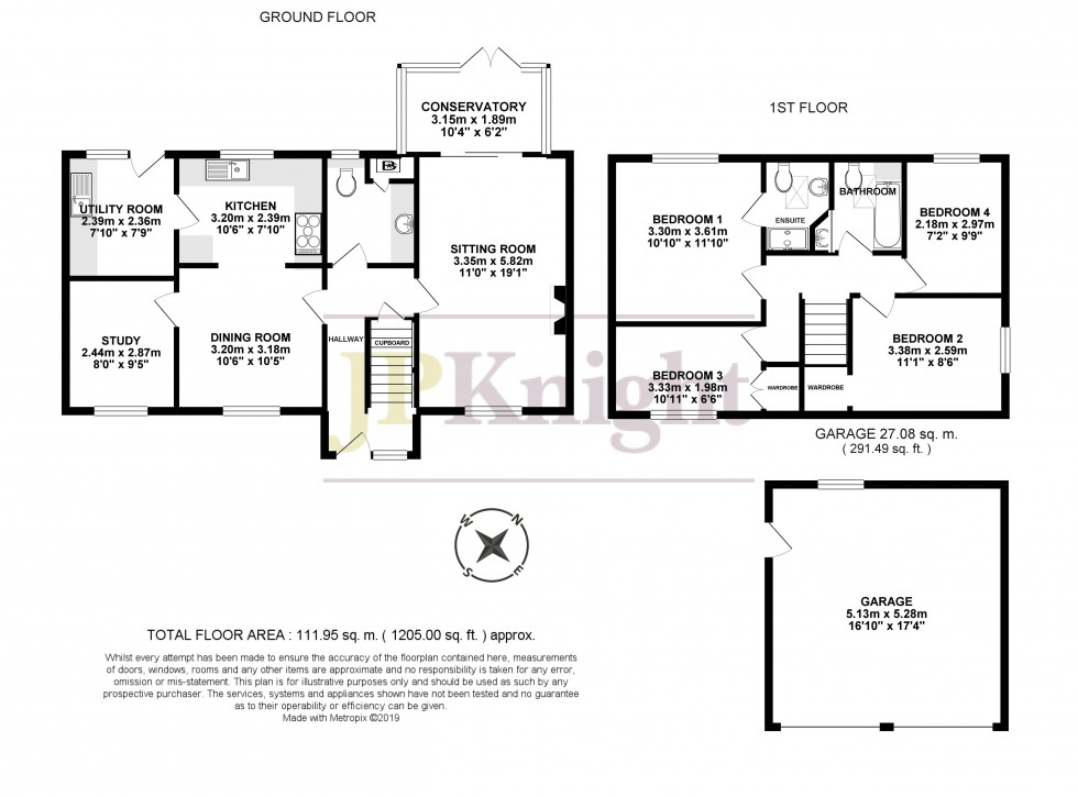 Floorplan for Orchard Close, Shillingford