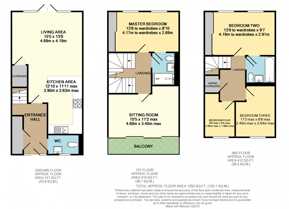 Floorplan for Rotherfield Road, Cholsey