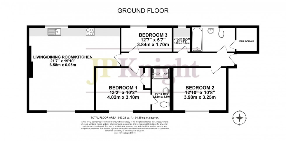 Floorplan for Blewbury Court, Cholsey