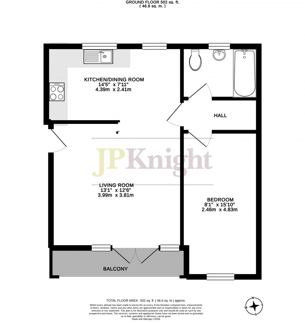 Floorplan for Atwell Close, Wallingford