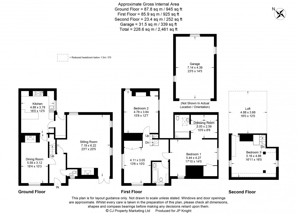 Floorplan for High Street, Drayton St Leonard