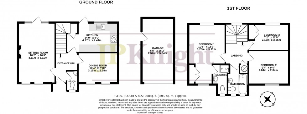 Floorplan for Stort Close, Didcot