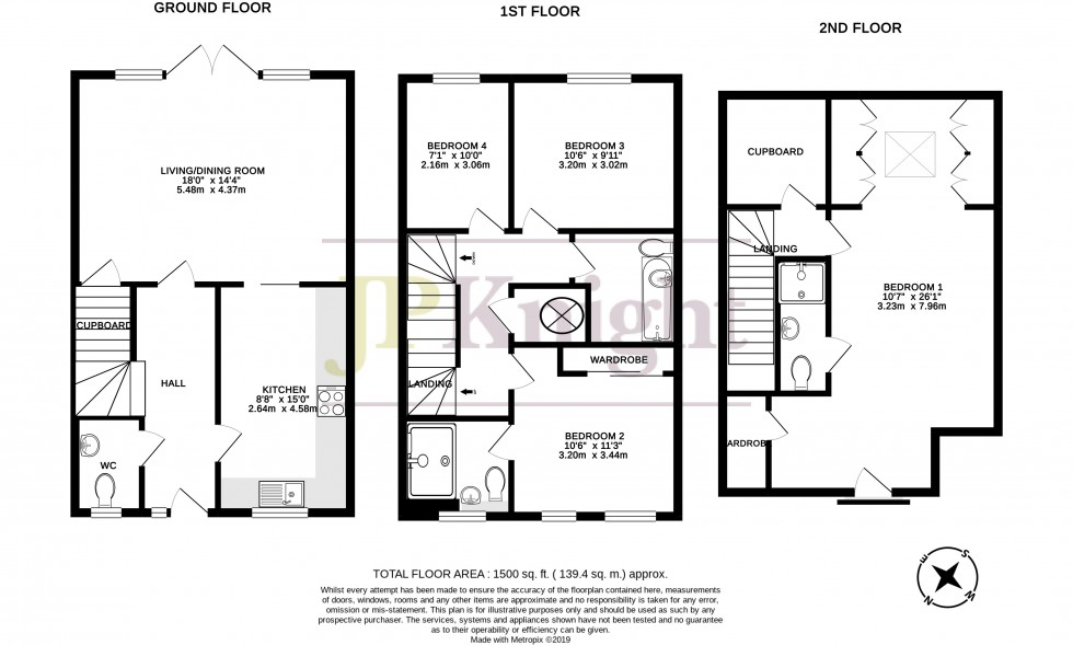 Floorplan for Schuster Close, Cholsey