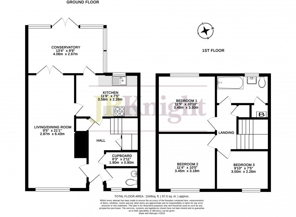 Floorplan for Westfield Close, Benson