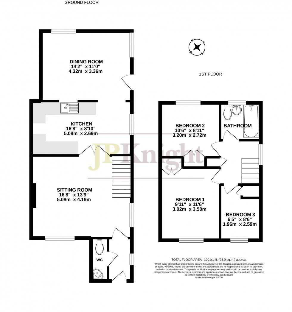 Floorplan for West End, Cholsey