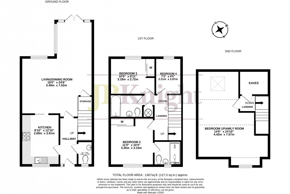 Floorplan for Newlands Way, Cholsey