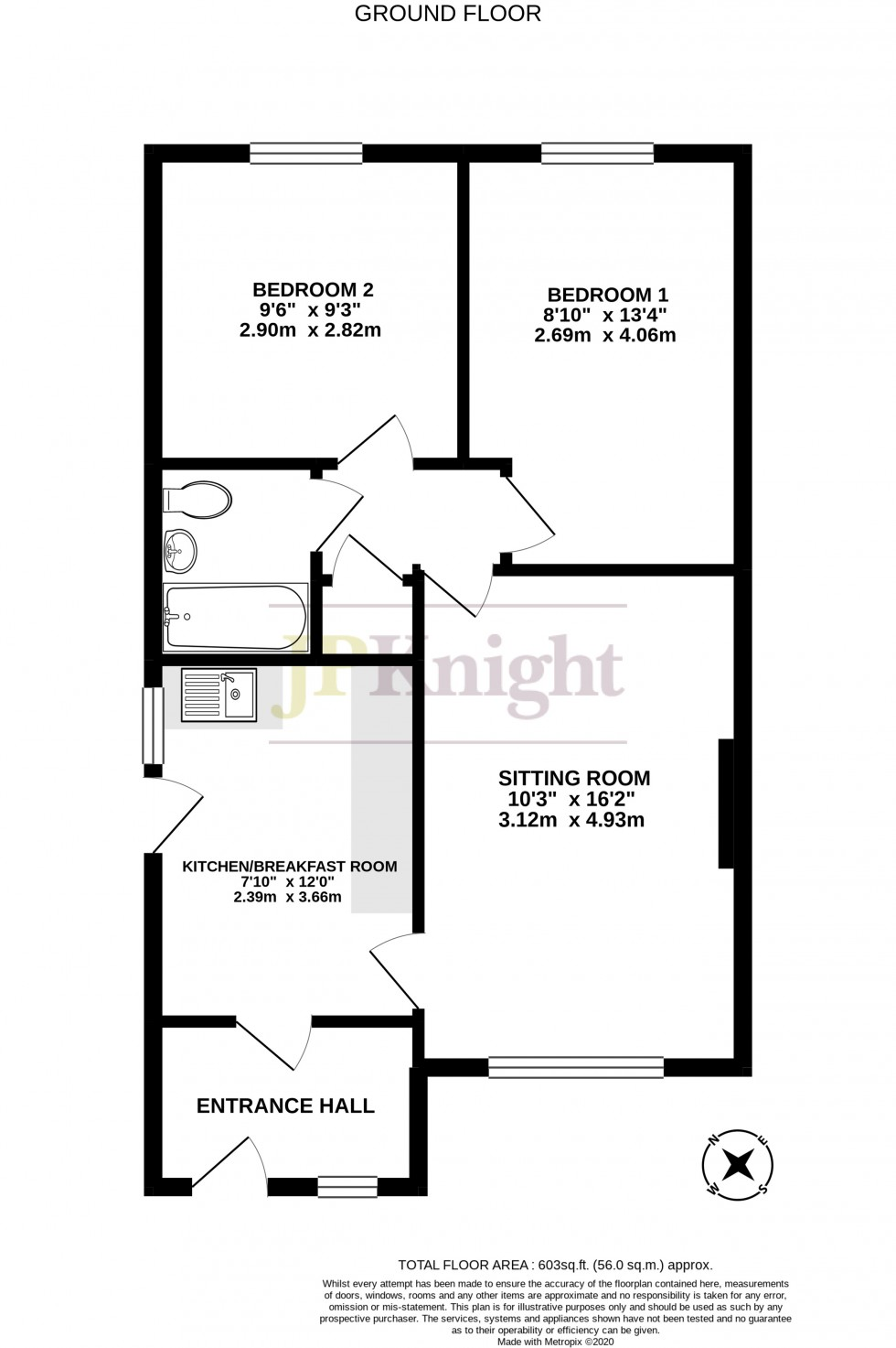 Floorplan for Blacklands Road, Benson