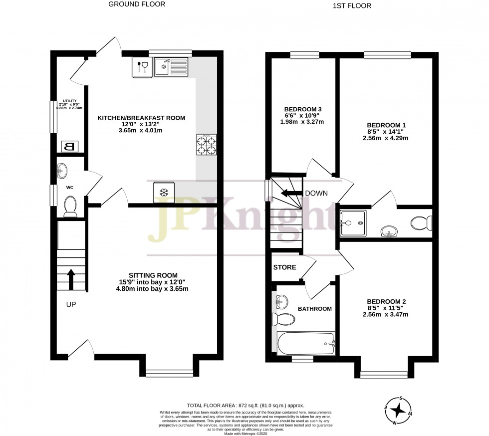 Floorplan for Meriden Court, Wallingford