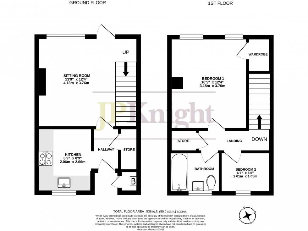 Floorplan for Croft Road, Wallingford