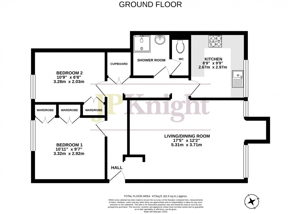 Floorplan for St. Leonards Court, Wallingford