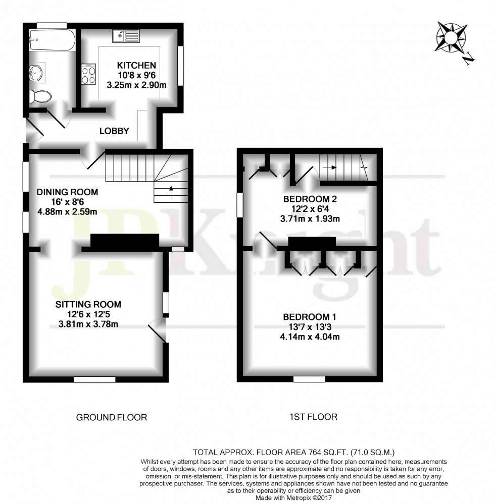 Floorplan for The Green, Chalgrove