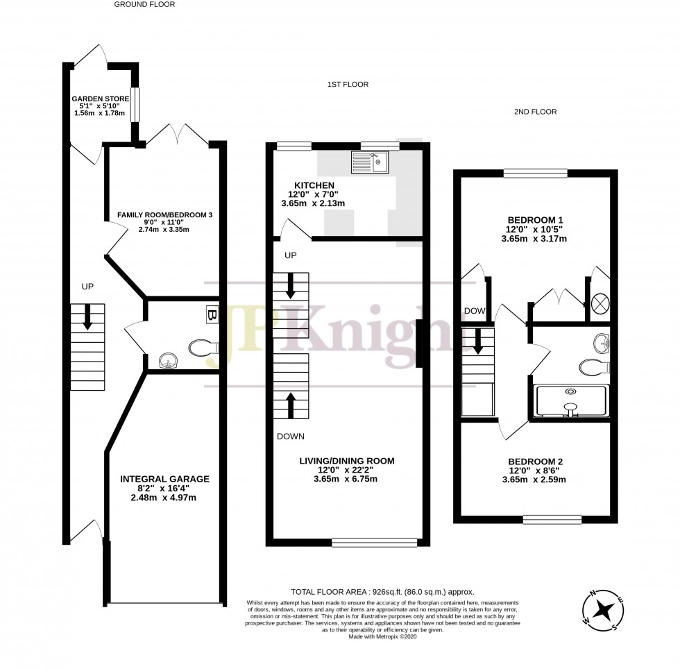 Floorplan for Home Farm, Crowmarsh Gifford