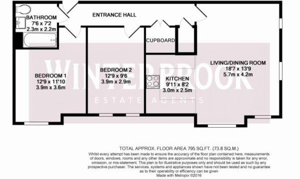 Floorplan for Villa Close, Cholsey