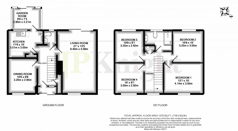 Floorplan for Cherry Close, Shillingford