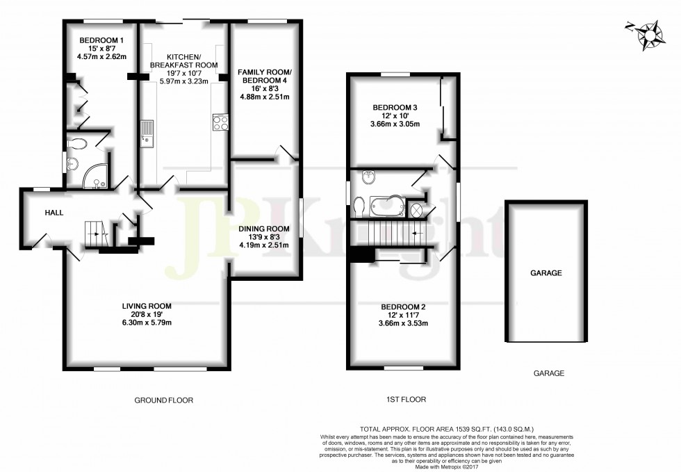 Floorplan for St. Helens Way, Benson