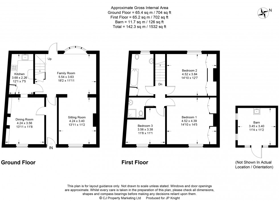 Floorplan for Benson Lane, Crowmarsh Gifford