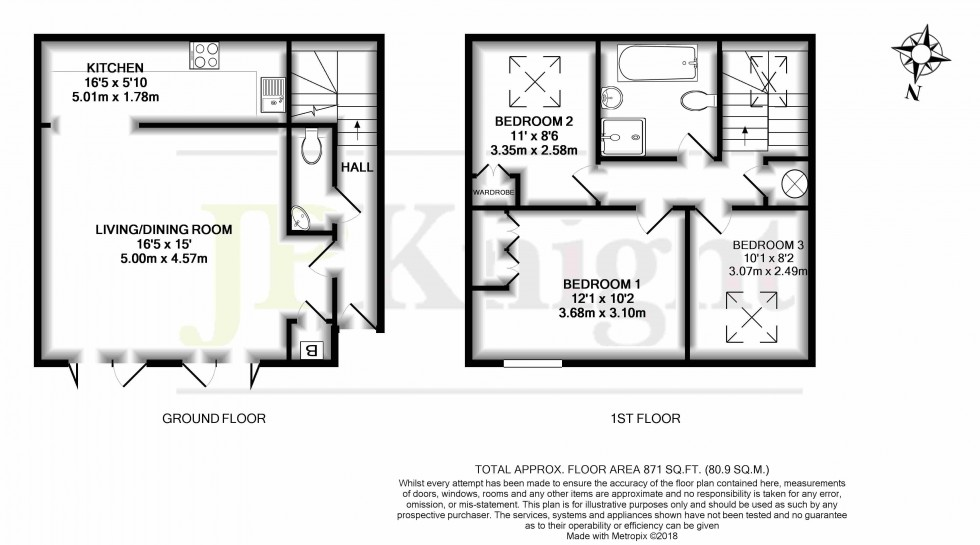 Floorplan for Long Barn, High Street, Sutton Courtenay
