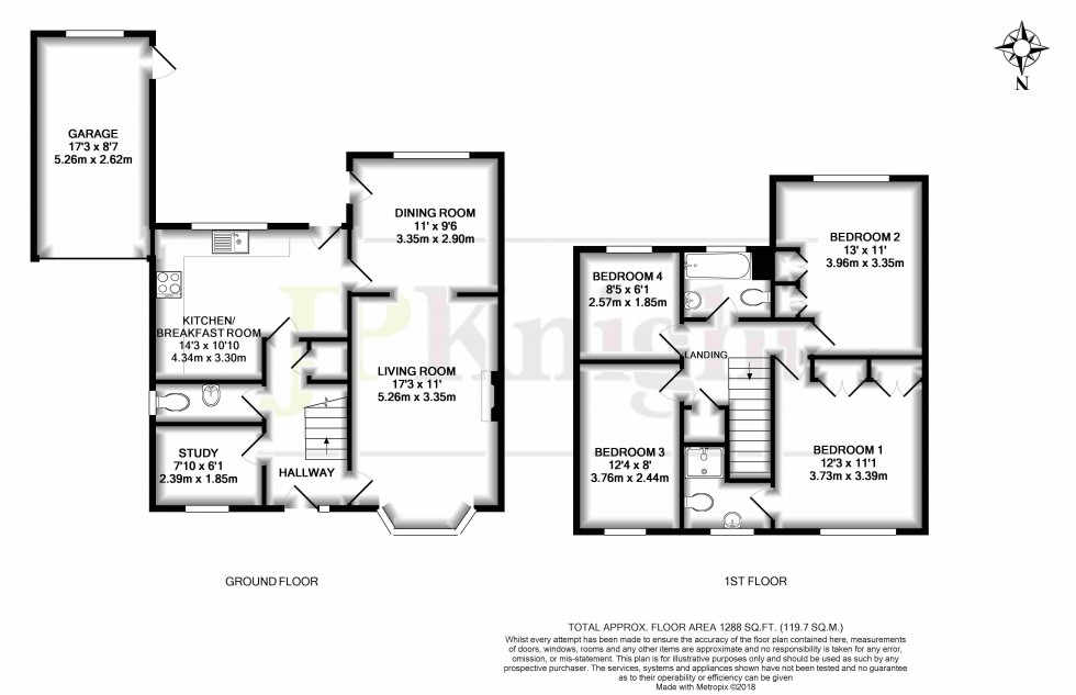 Floorplan for Nelson Close, Wallingford
