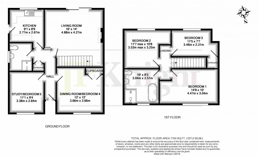 Floorplan for Larkfield, Cholsey