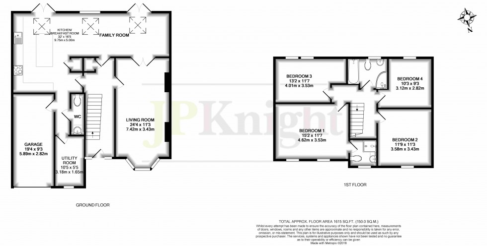 Floorplan for Papist Way, Cholsey
