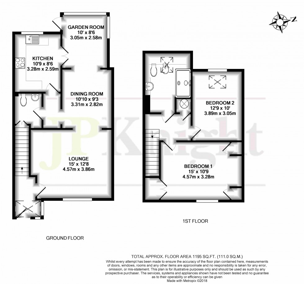Floorplan for St. Lucians Lane, Wallingford
